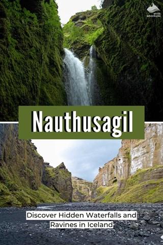 Nauthusagil - hidden waterfalls and ravines